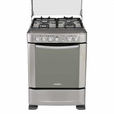 """Mabe Cocina a gas 4 quemadores con grill y rosticero 60 cm / 24"""" INGENIOUS6095EX1"""