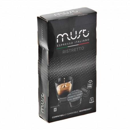 Juego de 10 cápsulas Café Espresso Ristretto Must
