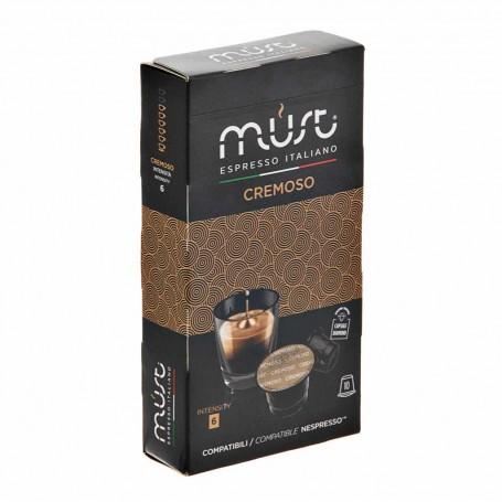 Juego de 10 cápsulas Café Espresso Cremoso Must