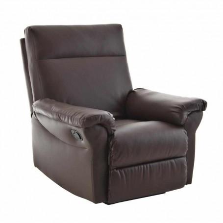 Sofá reclinable con botón 1 puesto Café