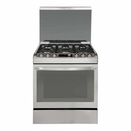 LG Cocina a gas 6 quemadores con Grill / Parrilla / Encendido automático / Anti huellas RSG316T