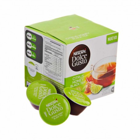 Juego de 16 cápsulas Citrus Honey Black Tea Dolce Gusto