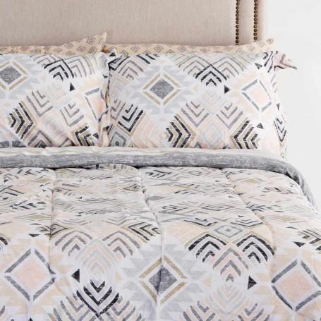Juego de edredón, sábanas, fundas para almohadas y faldón Étnico Indio Elite Home