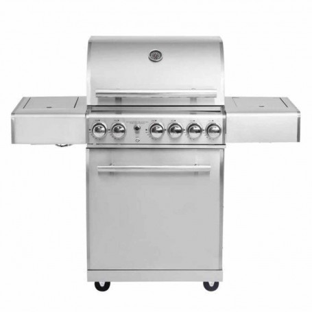 "BBQ a gas con sistema de aire laterales plegables 3 y 2 quemadores 59000BTU ALL'GRILL Chef ""M"" Paella World"
