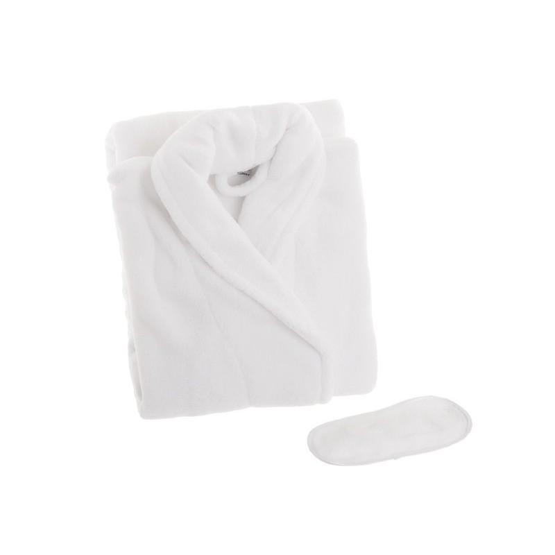 Bata de baño con antifaz blanco