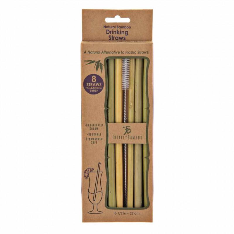 Juego de sorbetes reusables y cepillo Totally Bamboo
