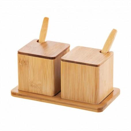 Salsera con cuchara y base Great Totally Bamboo