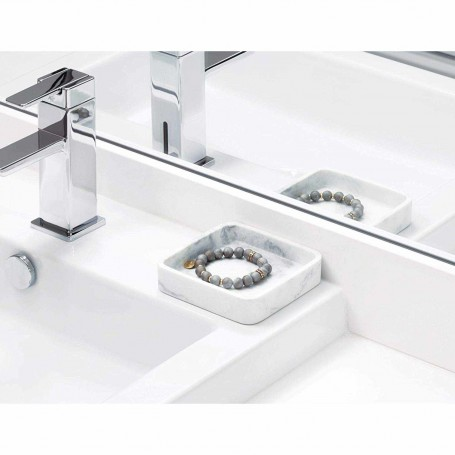 Bandeja para baño Dakota Mármol Interdesign