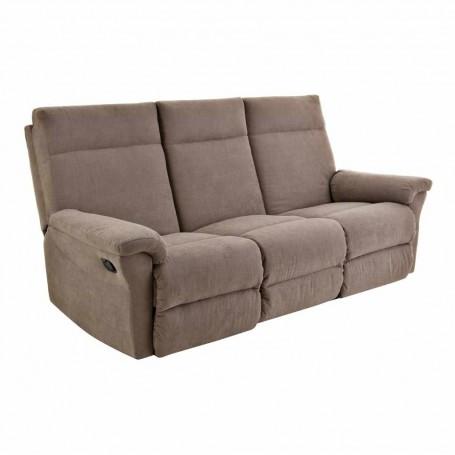 Sofá reclinable con botón 3 puestos