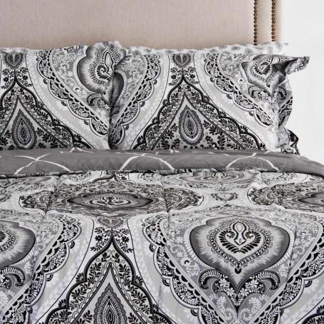 Juego de edredón, sábanas, fundas para almohadas y faldón Arabesco Bellisimo Elite Home