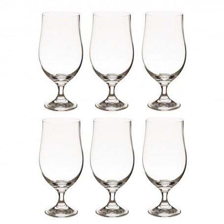 Juego de 6 copas cerveceras Splendour Krosno Glass