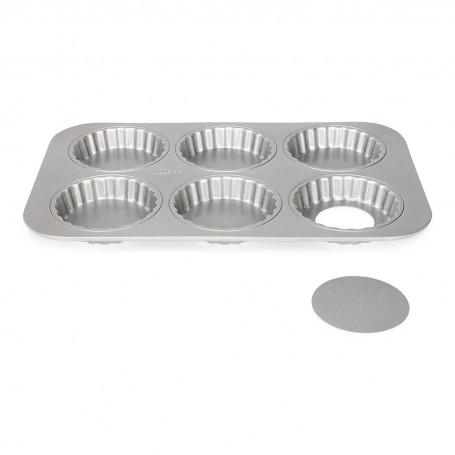 Molde desmontable para tartaletas Silver Top Patisse