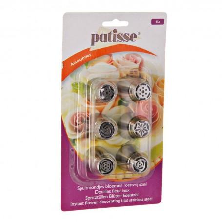 Juego de 6 boquillas decorativas Accessories Patisse