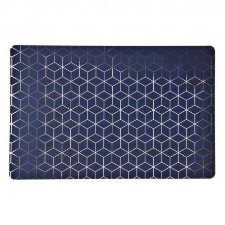 Individual Geométrico Azul / Silver Novo
