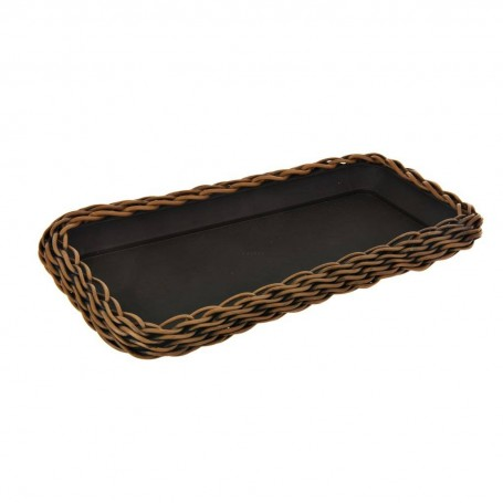 Bandeja rectangular para maceta Tejida
