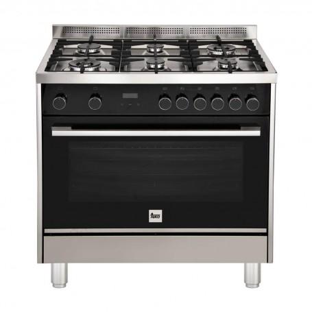 Teka Cocina a gas 6 quemadores / 3 niveles de cocción / Grill / Reloj FS3RL966GGX