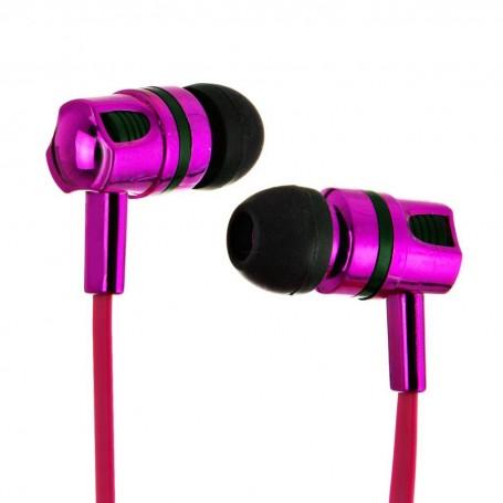 Audífonos con cable y micrófono Rosa Metálico Billboard