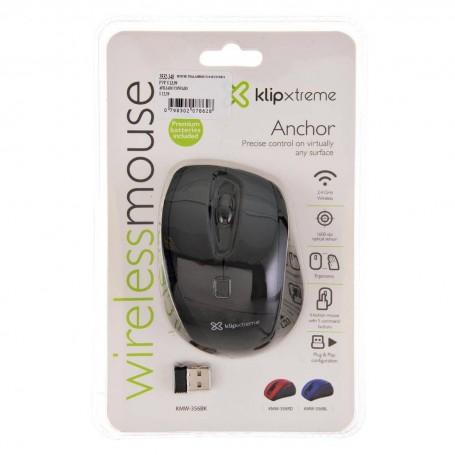 Mouse inalámbrico 6 botones KMW-356BK Klip Xtreme