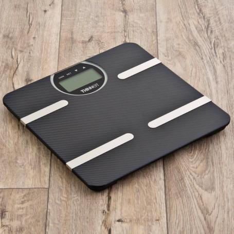 Balanza digital para baño con medidor de Grasa / Hidratación / Músculo y Diseño de fibra de carbón Conair