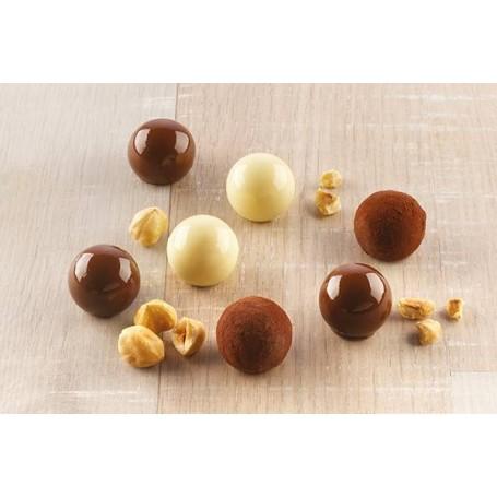 Mini molde para chocolate Bolitas Tartufino Silikomart