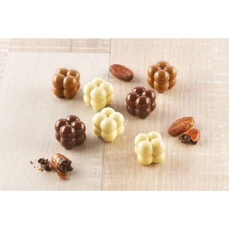 Mini molde para chocolate Bolitas Choco Game Silikomart