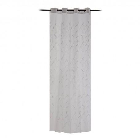 Cortina decorativa con ojales Ramas Blanco