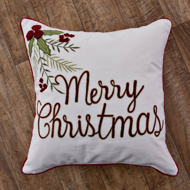 Forro para cojín Merry Christmas Filo Rojo Haus