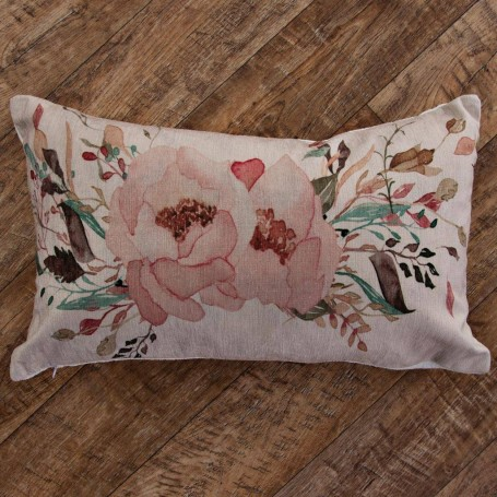Forro para cojín Multi Flores Rosado Haus