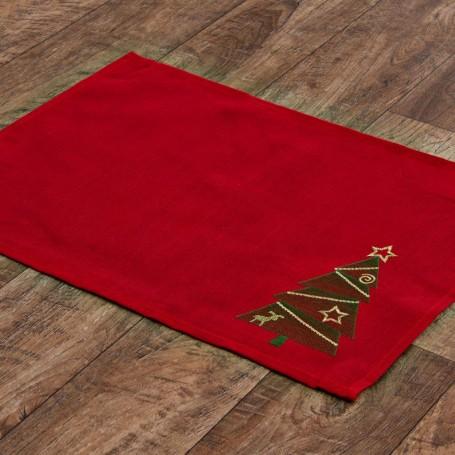 Individual Árboles de Navidad Rojo / Verde / Dorado Haus