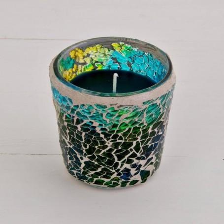 Vela aromática Cilíndrica Mosaico