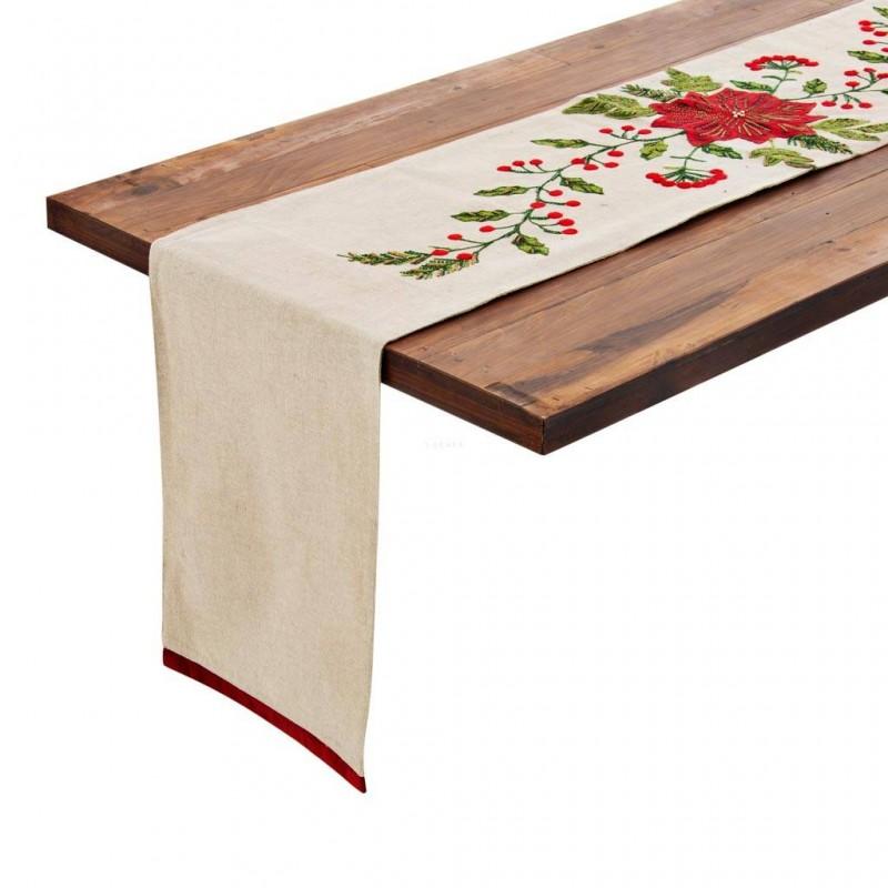 Camino de mesa Flor de Navidad Haus