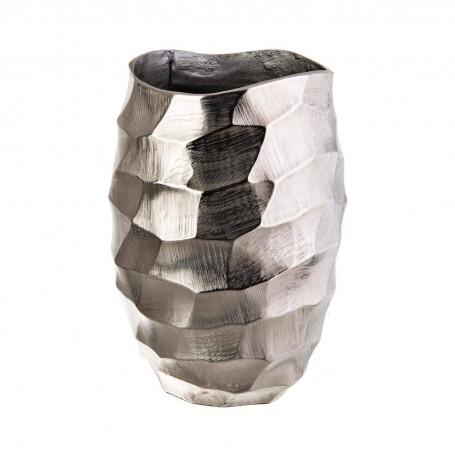 Florero de aluminio Silver Martillado Haus