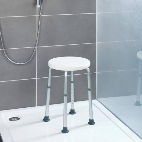 Taburete para ducha con altura ajustable Wenko