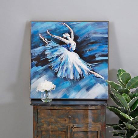 Cuadro Bailarina Blanco / Azul