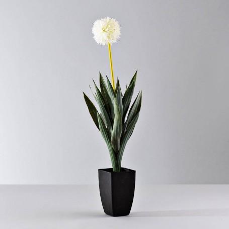 Planta artificial con maceta Flor Blanca Haus