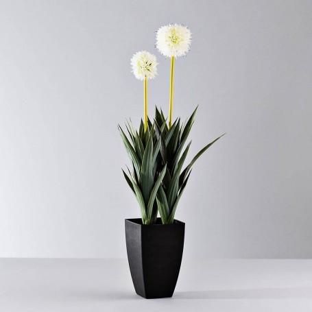 Planta artificial con maceta Flores Blancas Haus