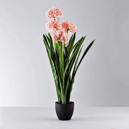 Planta artificial con maceta Flor Rosada Haus