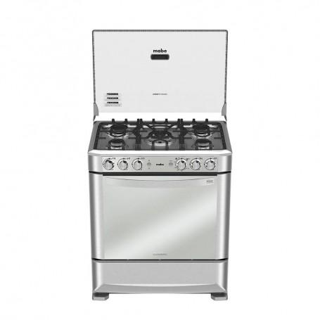 """Mabe Cocina a gas con Grill / Asador 5 quemadores 76cm / 30"""" EM7640FX0"""