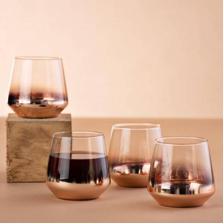 Juego de 4 vasos Whisky Cobre / Clear Novo