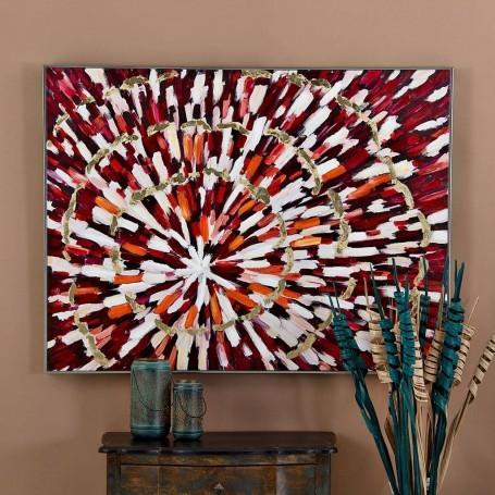 Cuadro Abstracto Terra / Naranja / Dorado