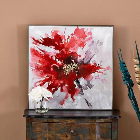 Cuadro Flor Rojo / Negro / Blanco