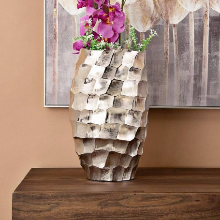 Florero de aluminio Martillado Silver Haus
