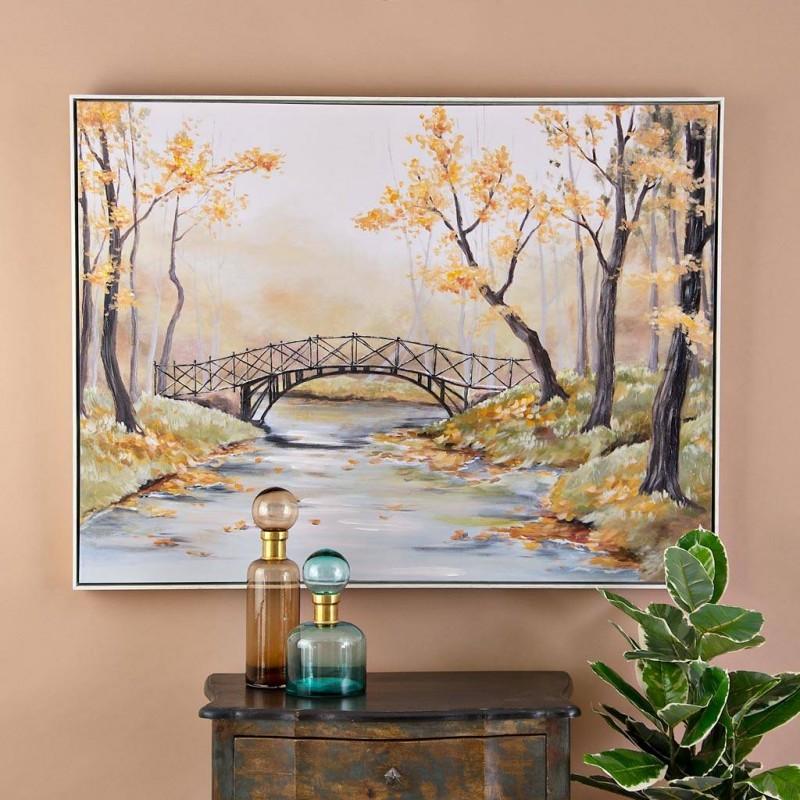 Cuadro Bosque con puente