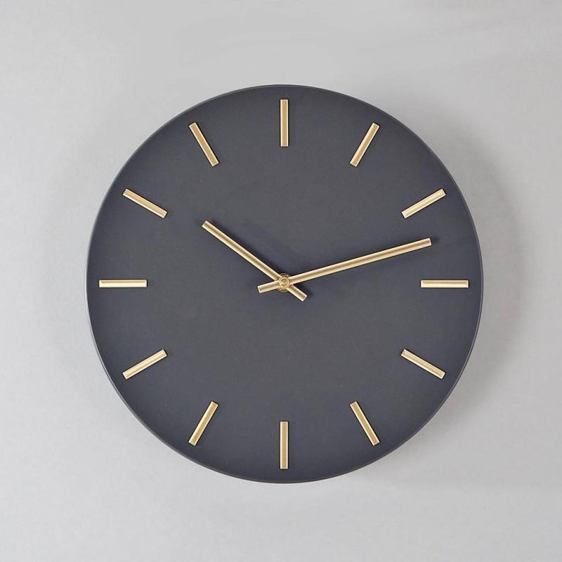 Reloj de pared Dorado / Negro