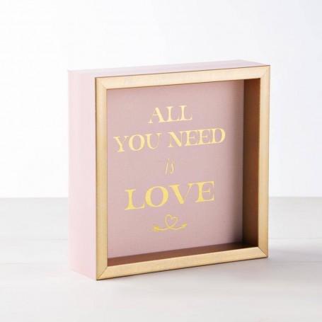 Portarretrato / Cuadro ALL YOU NEED IS LOVE Haus