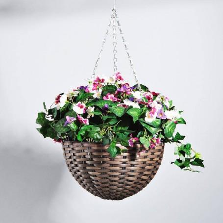 Planta con flores multi y maceta colgante Haus