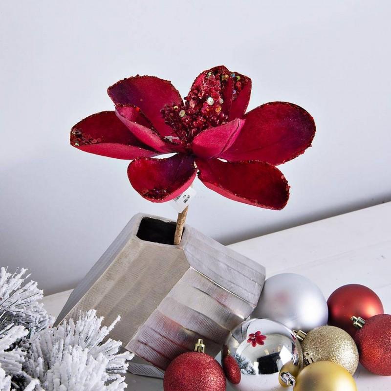 Flor Magnolia Escarcha / Lentejuelas Haus
