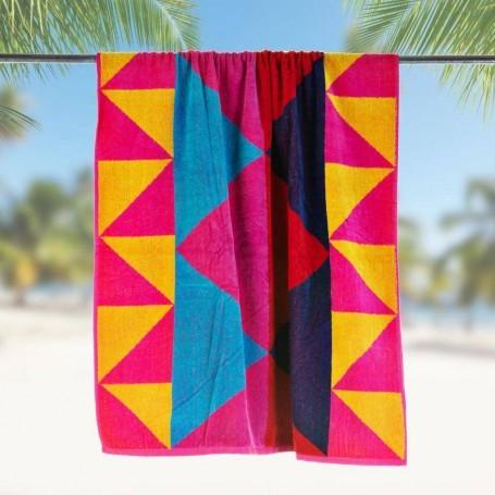 Toalla de playa Triángulos Multicolor Haus