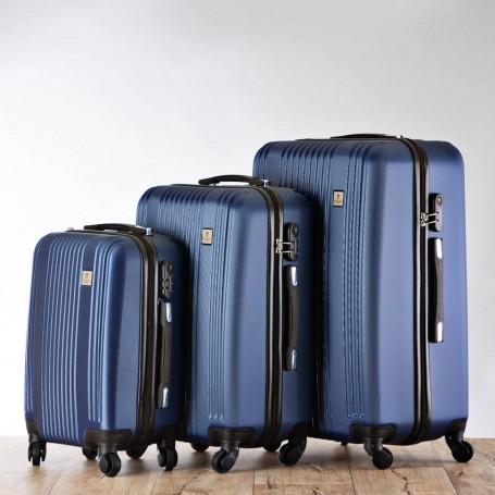 Juego de 3 maletas duras con 4 ruedas / candado