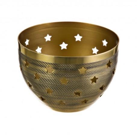 Porta velón Estrellas Dorado